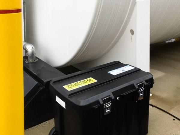 SpillStorm Oil Fuel Spill Kit Outdoors Refueling Stand