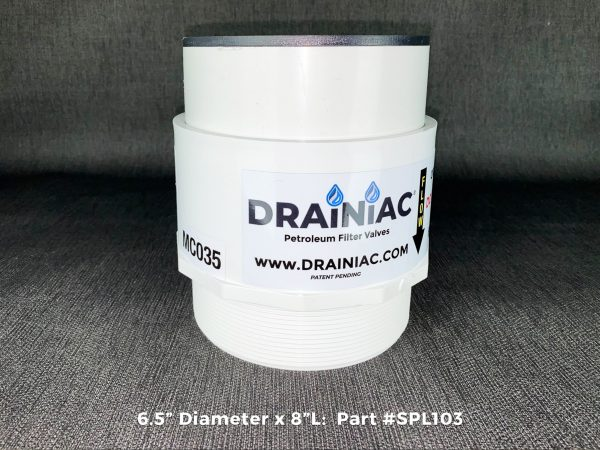 Drainiac Oil Filter Valve for Secondary Containment dewatering oil stop valve 2