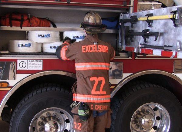 SpillBoa inside Fire Truck